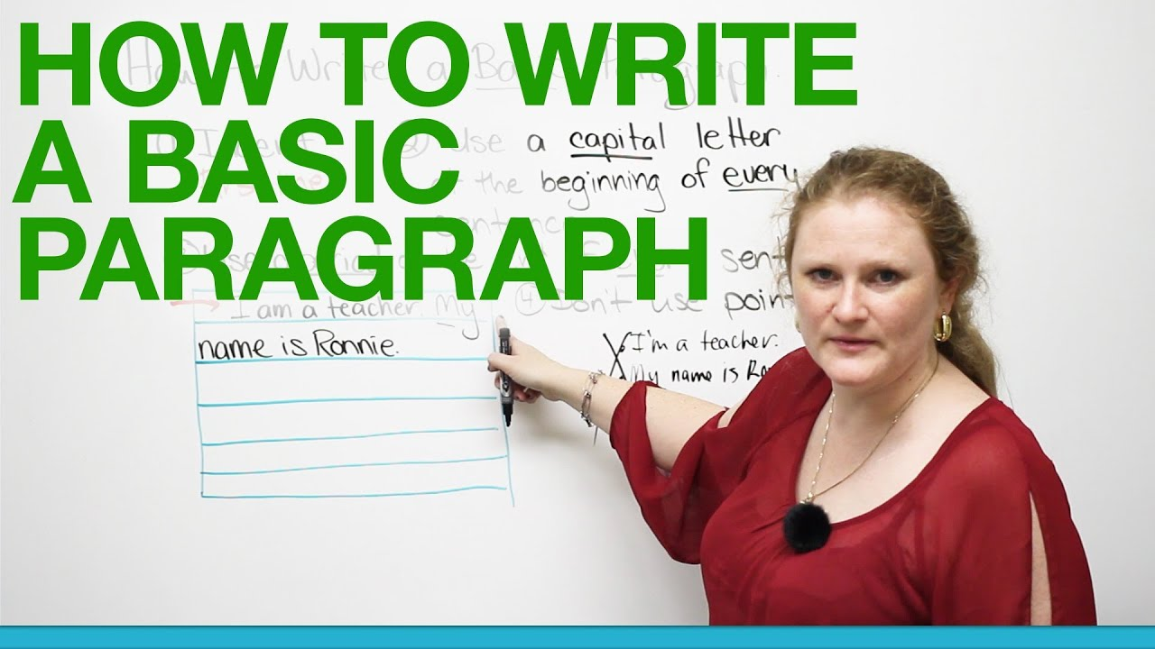 Writing a paragraph for kids video