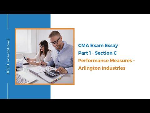 CMA Exam Essay - Part 1 Section C - Performance Measures ...