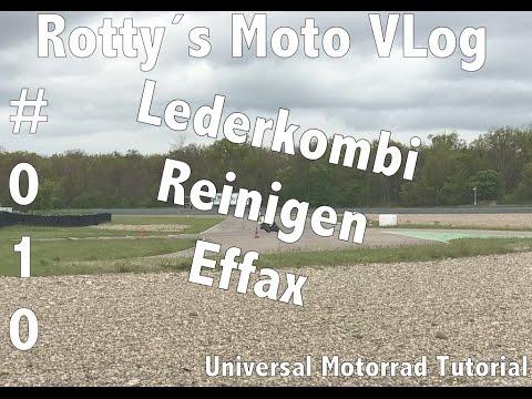 Motorrad Universal Tutorial #010 Lederkombi Reinigen Effax Leder Creme Seife