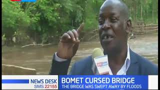 Newly built bridge swept away by floods in Bomet County