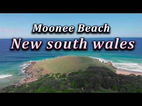 Moonee Beach from above