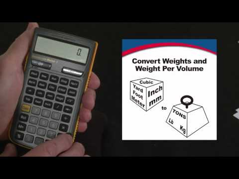 Construction Master 5 - Weights and Weight Per Volume