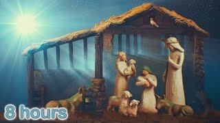 ☆ 8 HOURS ☆ CHRISTMAS MUSIC ♫ Christmas Music Instrumental HARP ♫ NATIVITY ✰ Christmas Carols