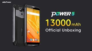 13000mAh Ulefone Power 5 Official Unboxing Video