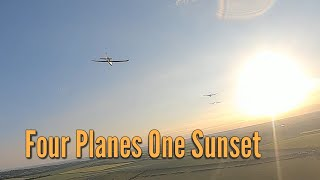 Four Planes One Sunset - FPV formation flying DJI FPV