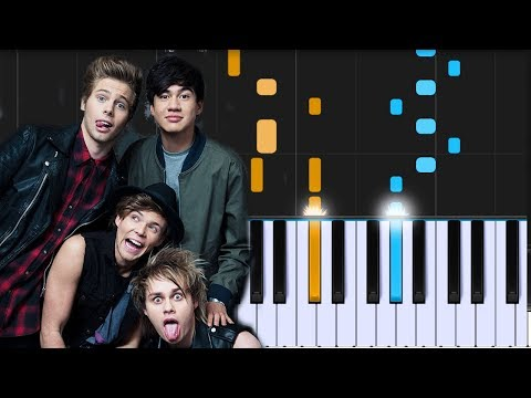 5 Seconds Of Summer Valentine Piano Tutorial Chords How To
