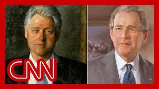 White House moves Clinton, Bush portraits to rarely used room