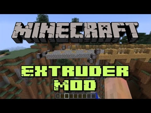 Minecraft Mods - Extruder [Auto Building Bridge!]