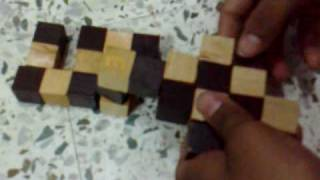 preview picture of video 'Wooden Snake Cube Solution by Zeeshan'