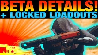 DESTINY 2 BETA DETAILS - EVERY ACTIVITY IN THE D2 BETA - LOCKED LOADOUTS COMING TO DESTINY 2
