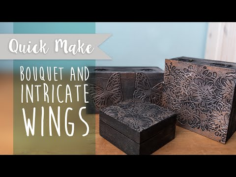 Bouquet & Intricate Wings Vintage Box - Sizzix