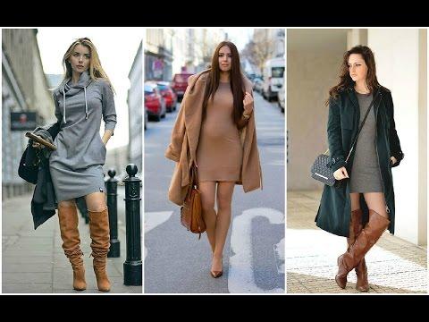 OUTFITS: Combinaciones de Moda con Faldas, Vestidos, Botas y Botines