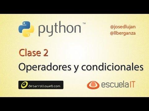 Operadores y estructuras condicionales en Python