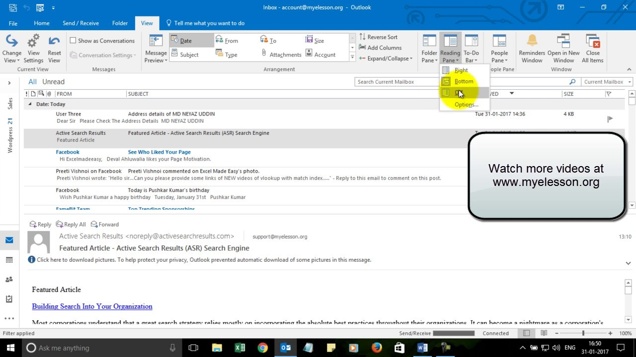 How to Read Email in Outlook