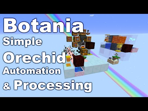 Botania | Simple Orechid & Ore Processing | Tutorial | Automation