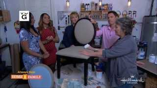 Annie Sloan Paints Fabric With Chalk Paint® On Home & Family On Hallmark Channel