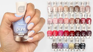 Sally Hansen Good. Kind. Pure. Full Collection Swatches & Nail Art