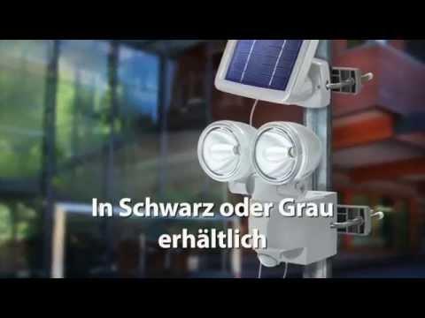 2er-LED-Solar-Strahler mit Bewegungsmelder - Wohnlicht.com