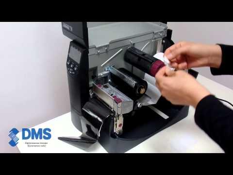 Zebra ZM400, impresora código de barras, colocación de suministros.