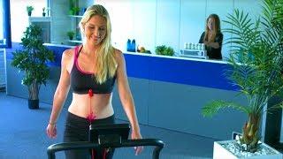 Mit Anne-Kathrin Kosch sportlich aktiv werden! Kompaktes Laufband mit Klappmechanismus