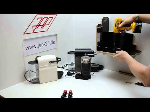 Einbau Halterung Nespresso Pixie Inissia Aeroccino 3 Milk Station 2
