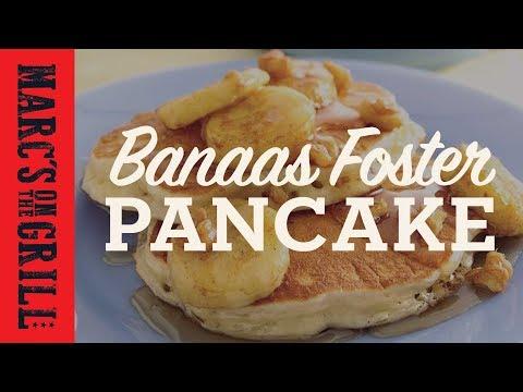 Flaming Dessert: Bananas Foster Pancakes