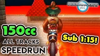 Mario Kart Wii - 150cc All Tracks Speedrun - 1:14:47 (No Items, No Skips)