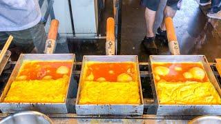 japanese street food - TAMAGOYAKI japanese omelette