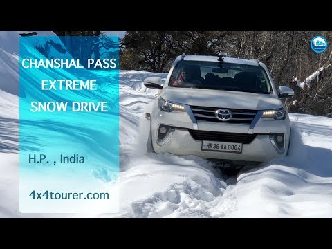 Extreme Snow Drive To Chanshal Pass | Toyota Fortuner | Off Road | 2018 | 4K