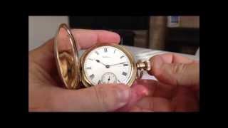 Waltham Hunter Gold Pocket Watch 1912