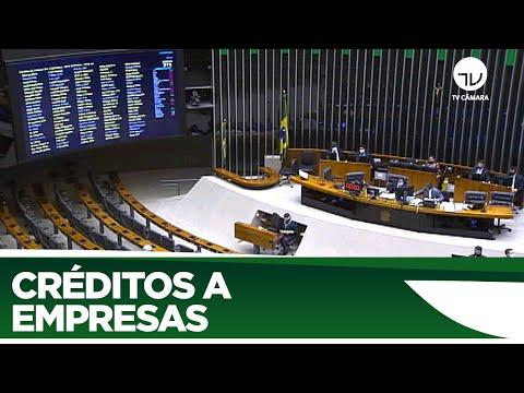 Plenário aprova crédito a empresas na pandemia - 25/06/20