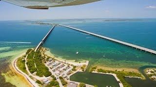 Flight over Key West, Bahia Honda Bridge and the Florida Keys