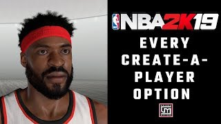 NBA 2K19 - Create-A-Player and Player DNA - Every Option Available