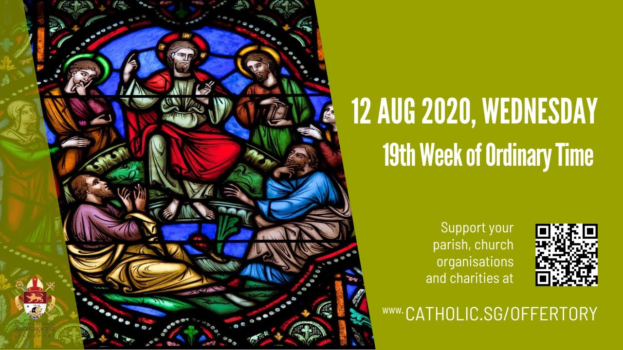 Catholic Live Mass 12th August 2020 Online - Wednesday, 19th Week of Ordinary Time 2020