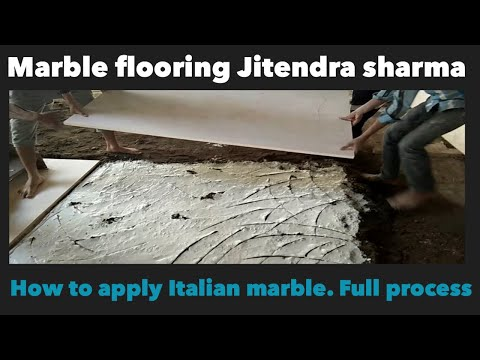 How to install Italian marble flooring | FULL PROCESS |