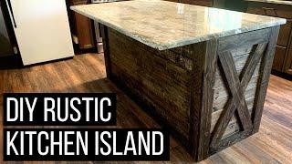 DIY Kitchen Island   Rustic Kitchen Island Makeover Under $150