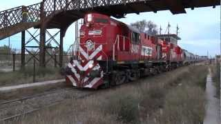 preview picture of video 'Tren de FEPSA rumbo a Saavedra pasando por Spurr'