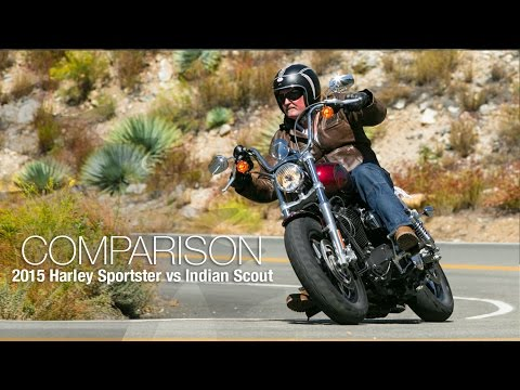 2015 Harley Sportster vs. Indian Scout Part 2 - MotoUSA