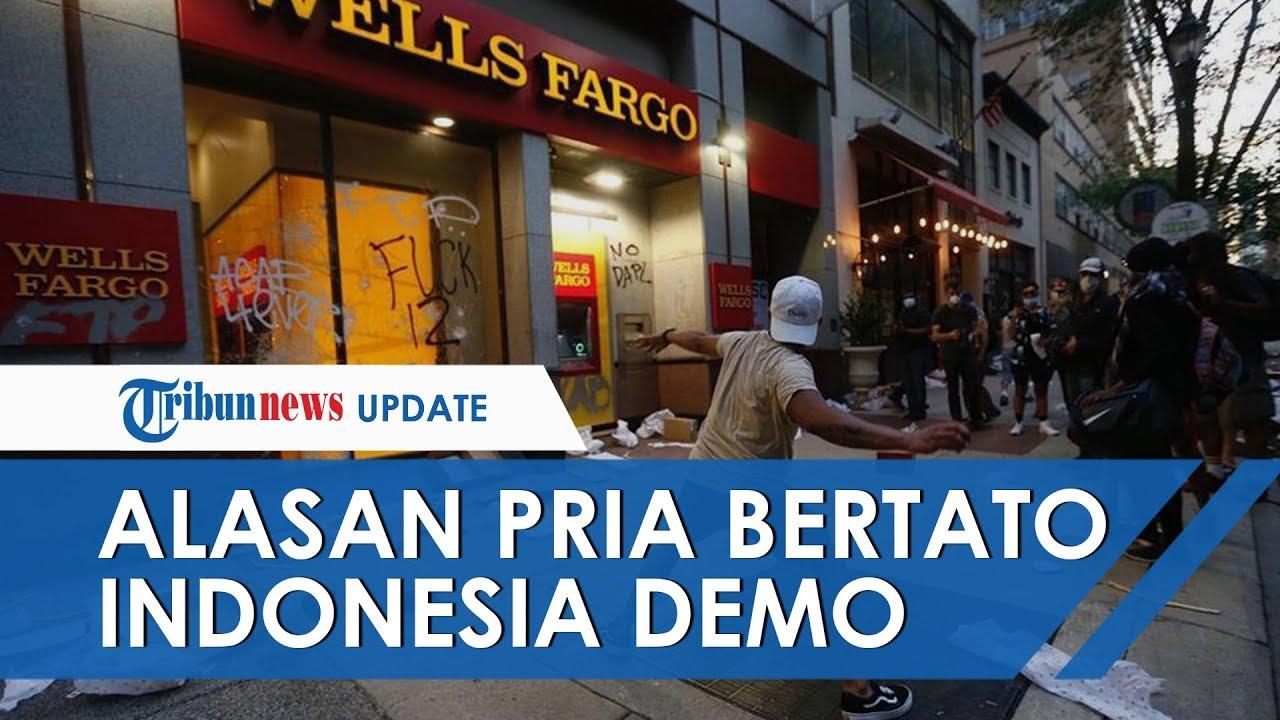 Alasan Pria Bertato Peta Indonesia Ikut Rusuh saat Aksi Demonstrasi George Floyd di Amerika Serikat