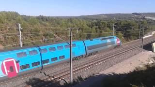 preview picture of video 'OUIGO n°6258 Marseille - Marne-la-Vallée Chessy à Ventabren.'