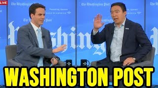 Andrew Yang's Washington Post Interview with Robert Costa | October 21st 2019