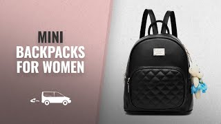 Top 10 Mini Backpacks For Women [2018]: Women Leather Backpack Purse Satchel School Bags Casual