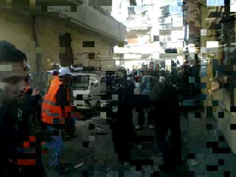باباعمرو شاهد عيان مع لجنة المراقبين العرب 27 12 2011