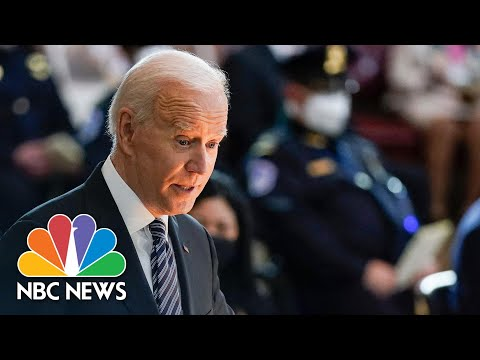 'He Was Defined By His Dignity': Biden Pays Tribute To Fallen U.S. Capitol Officer | NBC News NOW