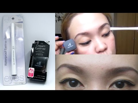 ELF Cream Eyeliner and Waterproof Eyeliner Pen Comparison Review! | TAGALOG