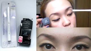 ELF Cream Eyeliner and Waterproof Eyeliner Pen Comparison Review! | TAGALOG