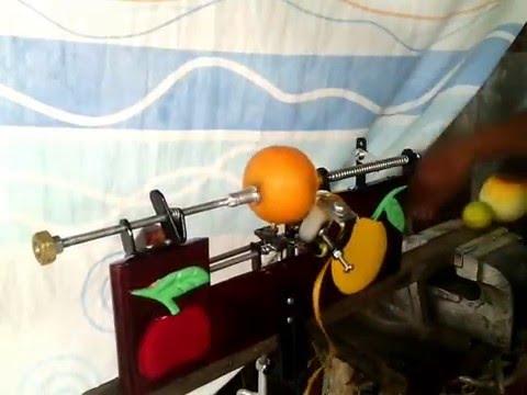 peladora de naranja artesanal