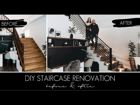 DIY Staircase Makeover [AMAZING Staircase Before and After!]