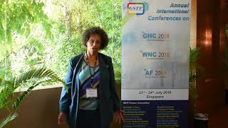 Prof. Patricia Burrell at GHC Conference 2018 by GSTF Singapore
