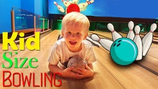 Kid Size Bowling at Great Wolf Lodge